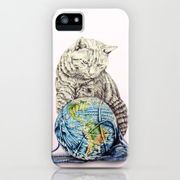 In which our feline deity shows restraint  iPhone Case