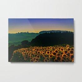 Sunflower Hill Metal Print