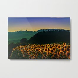 Sunflower Hill Metal Print