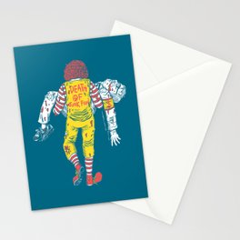 Death Of Junk Food Stationery Cards