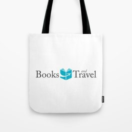 Books and Travel Logo Tote Bag