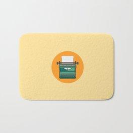Typewriter Icon Bath Mat