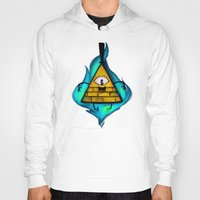 gravity falls Hoodies featuring Gravity Falls- Bill Cipher  by merrigel