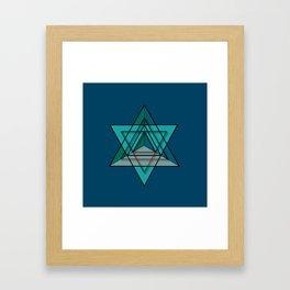 Star Tetrahedron Framed Art Print
