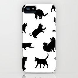 Crazy Cat Love Pattern iPhone Case