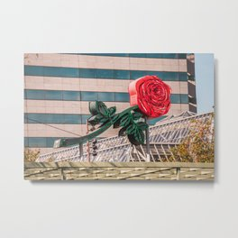 Rose City Metal Print