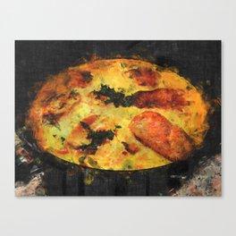 Pork tenderloin with cream-mushroom sauce Canvas Print