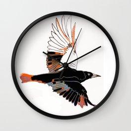 BlackbirdFlies - Ria Loader Wall Clock