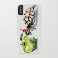 turtle iPhone & iPod Cases featuring Turtle by Anna Shell