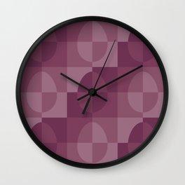 Easter blush pastel pink shades squares pattern Wall Clock