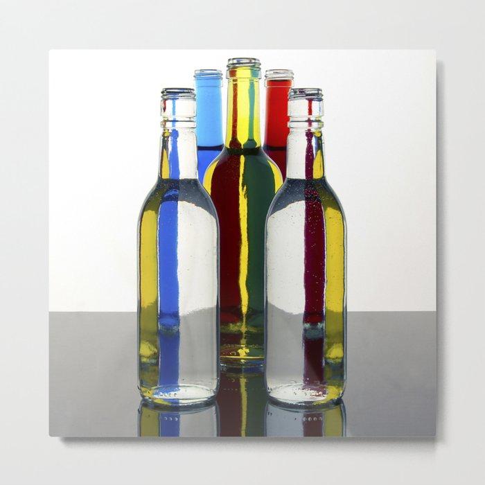 Psychedelic Bottles Metal Print