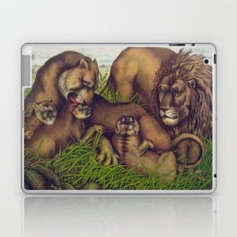 Vintage Illustration of a Lion Family (1874) Laptop & iPad Skin