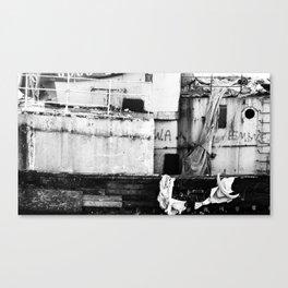 Destroyed - B/W Canvas Print
