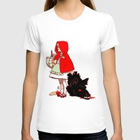 red hood T-shirts featuring Little Red Hood by Madeoftin