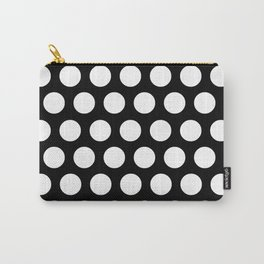 Black with White Polka Dots Carry-All Pouch