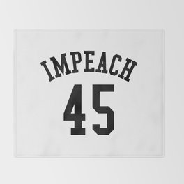 IMPEACH 45 Throw Blanket