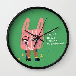 Plastic Bag Blues Wall Clock
