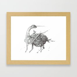 Bruntasaurus Framed Art Print