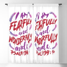 Psalm 139:14 Blackout Curtain