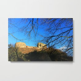 Castle Ruins on a Sunny Winters Day Metal Print