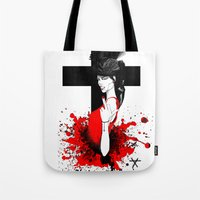 religion Tote Bags featuring BAD RELIGION by Anna d'Ark