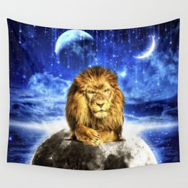 Grumpy Lion Wall Tapestry