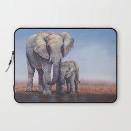 Elephants Mom Baby Laptop Sleeve