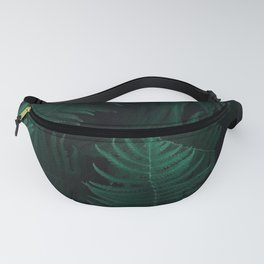 BOTANY - DARK - GREEN - PLANTS - FERN - PHOTOGRAPHY Fanny Pack