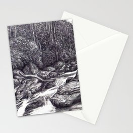 Black and White 6 Stationery Cards