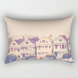 Darling do come see us! San Francisco Painted Ladies photograph Rectangular Pillow