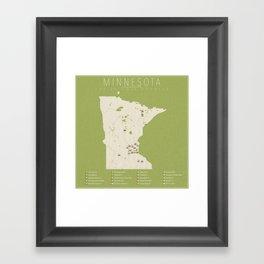 Minnesota Golf Courses Framed Art Print