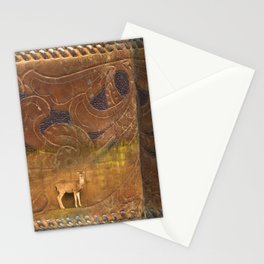 Deer Sheltering in the Storm Stationery Cards