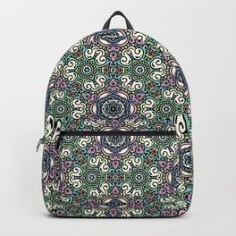 Dusty Meadows - flowery symmetrical pattern - illustration Backpack