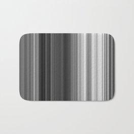 Black White Gray Thin Stripes Bath Mat