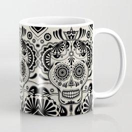 Sugar Skull Art B&W Coffee Mug
