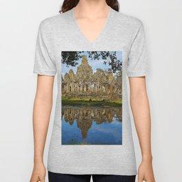 Angkor Thom Temple Cambodia Unisex V-Neck