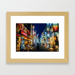 Kabukicho at Night Framed Art Print