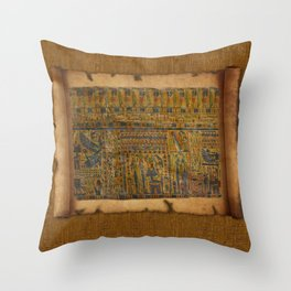 Ancient Egyptian Funerary Scroll pre 944 BC Throw Pillow
