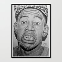 tyler the creator Canvas Prints featuring Tyler, The Creator Drawing by ColleenTrillow