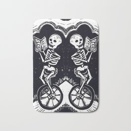 Unicycle Skeletons Bath Mat