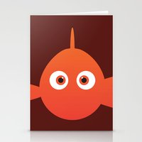 pixar Stationery Cards featuring PIXAR CHARACTER POSTER - Nemo - Finding Nemo by Marco Calignano