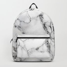White Marble Texture Backpack