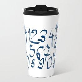 Chiffres bleus Travel Mug