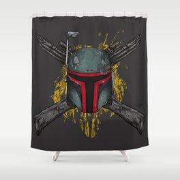 Boba Fett Crossbones Shower Curtain