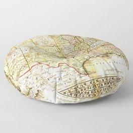 1867 USA Map Floor Pillow