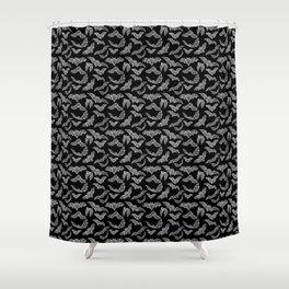 BATS (BLACK) Shower Curtain