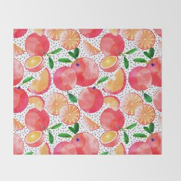 Citrus Love #digitalart #citrus Throw Blanket