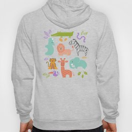 Zoo Pattern in Soft Colors Hoody