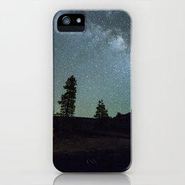Milky way in La Palma iPhone Case