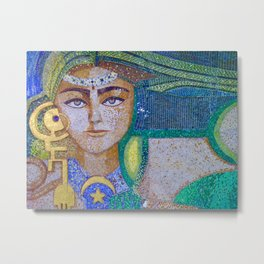 Tunisian Mosaic, Photograph by Noora Elkoussy Metal Print